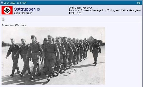 Aryan SS Armenian Nazis marching