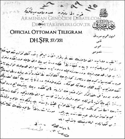 Ottoman Archives Ciphered Telegram